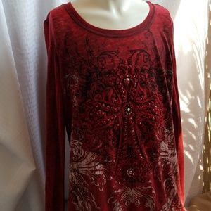Ladies Red top from Maurices sz Medium